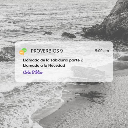 Devocional diario proverbios 9