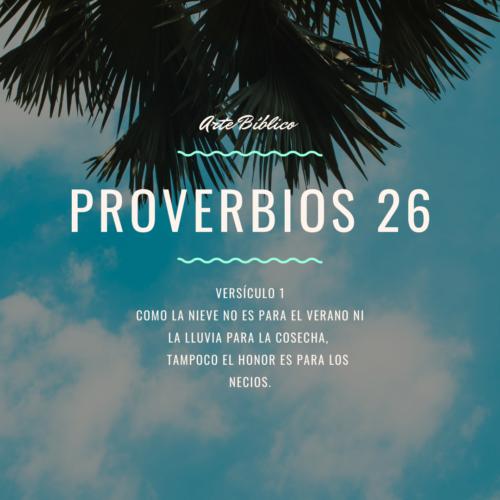 Devocional Diario Proverbio 26
