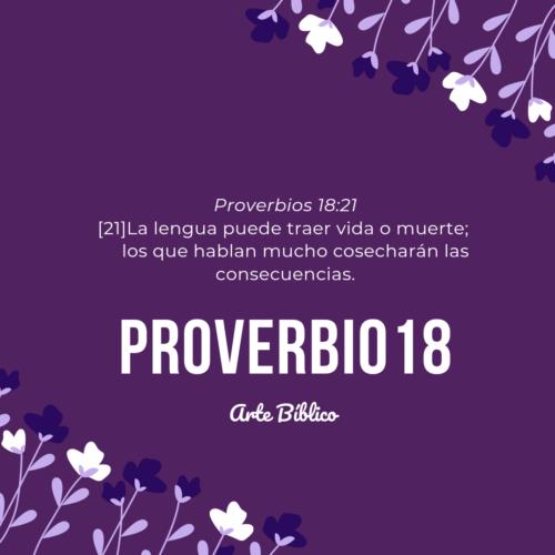 Devocional diario proverbios 18