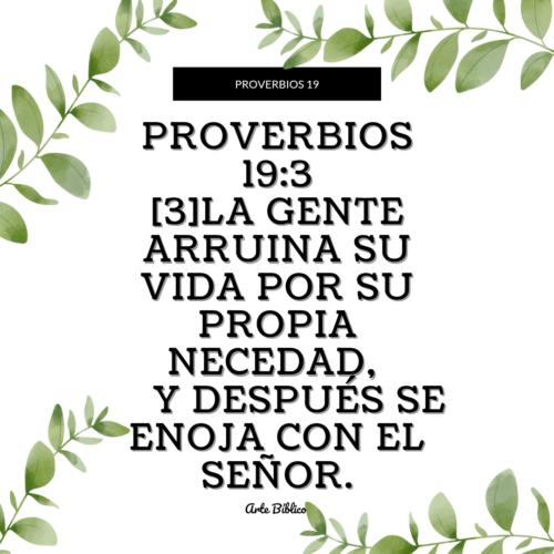 Devocional diario proverbios 19